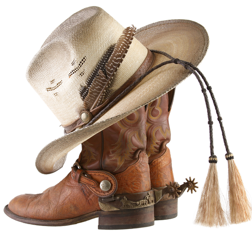 Image used under a Collective Commons License from: https://commons.wikimedia.org/wiki/File:Cowboy-Boots-And-Hat.png