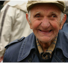 Image used under a Collective Commons License from: Image used under a Collective Commons License from: https://commons.wikimedia.org/wiki/File:Happy_Old_Man.jpg