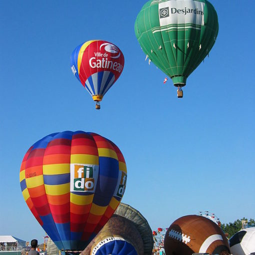 Image used under a Collective Commons License from: https://commons.wikimedia.org/wiki/File:Balloons_at_the_Gatineau_Hot_Air_Balloon_Festival.jpg