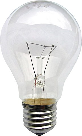 Image used under a Collective Commons License from: https://commons.wikimedia.org/wiki/File:Gluehlampe_01_KMJ.jpg