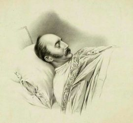 Image used under a Collective Commons License from: https://lv.wikipedia.org/wiki/Att%C4%93ls:Nicholas_I_on_his_deathbed.jpg