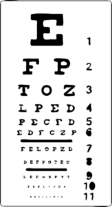 Image used under a Collective Commons License from: https://pixabay.com/vectors/eye-chart-eyes-vision-sight-exam-24489/