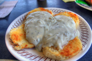 Image used under a Collective Commons License from: https://www.goodfreephotos.com/food/biscuits-and-gravy.jpg.php